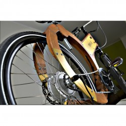 wood e-bike ruota posteriore
